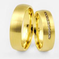 Обручальные кольца лимонное золото